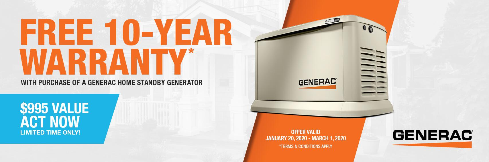 Homestandby Generator Deal | Warranty Offer | Generac Dealer | East Longmeadow, MA